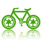 Groene fiets — Stockfoto