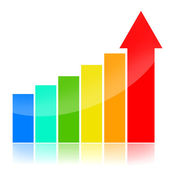 Business success charts — Stock Photo