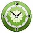 Green Clock — Stock Photo