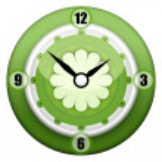 Green Clock — Stock Photo