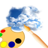 Painting Sky — Stock Photo