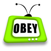 Obey TV — Stock Photo