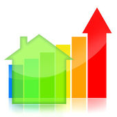 Housing market business charts — Stock Photo