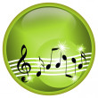 Green Music - Stock Photo