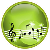 Green Music — Stock Photo
