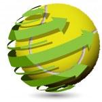 Tennis ball — Stock Vector #5777838