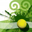 Tennis ball — Stockvectorbeeld