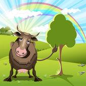 Sad cow — Stock Vector