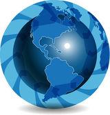 Globo azzurro — Vettoriale Stock