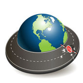 Globe and roads — Stock Vector