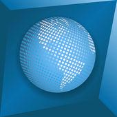 Blue globe — Cтоковый вектор