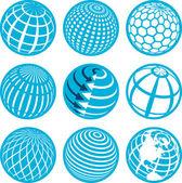 Icons globe — Stock Vector