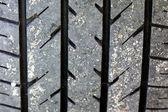 Neumático de coche de la pisada — Foto de Stock