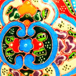 Iznik tile colorful ornamental details — Stock Photo