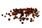 Black pepper, black peppercorn , indian spice — Stock Photo