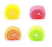 Multicolored round marmalade — Stock Photo