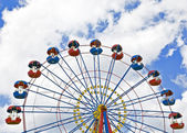 Ferris wheel with space for text — Stockfoto