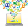 Stock Photo: Abstract Social Networks