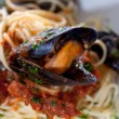 Stock Photo: Italipastwith seafood