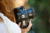 Fotógrafo femenino — Foto de Stock