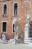 Estatua de arsenal, venecia — Foto de Stock
