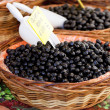 Dried black olives — Stock Photo