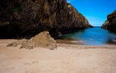 Beach of Nueva de Llanes — Stock Photo