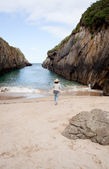 Beach of Nueva de Llanes — Stock Photo