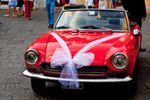 Car decorated for a wedding — Stock Photo