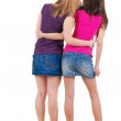 Two young woman. Rear view. — Stock Photo