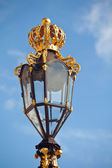 Beautiful lamp lights from Nancy in Stanislas square — Stock Photo