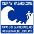 Stock Vector: Tsunami hazard zone sign