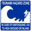 Tsunami hazard zone sign — Image vectorielle