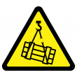 Stock Vector: Suspended Load Hazard Sign