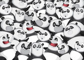 Pandas background pattern — Stock Vector