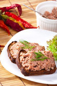 Pate on bowl — Stock Photo
