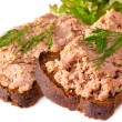 Pate on bread — Stock Photo
