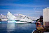 Antarctic glaciers — Stock Photo