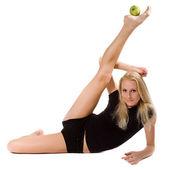 Gymnast på utbildning — Stockfoto