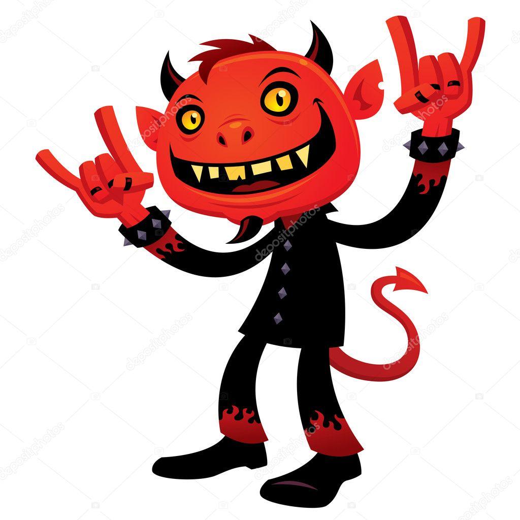 Heavy Metal Devil - Stock Illustration