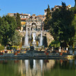 Tivoli, Italia. Garden, pool and fountain — Foto Stock