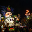 Night carnival of Viareggio — Stock Photo