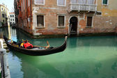 Venetië. gondels op de werf — Stockfoto