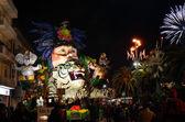Night carnival of Viareggio — Stock Photo