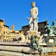 The fountain of Neptune, Florence — Stock Photo