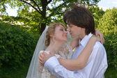 Blond ženich a nevěsta — Stock fotografie