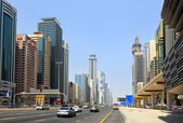 Sheikh zayed road, dubai — Stockfoto