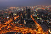 Birds eye Dubai view — Stock Photo