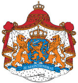 Coat of arms of the Netherlands — Stock Vector