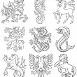 Royalty-Free Stock Vector Image: Heraldic monsters vol I